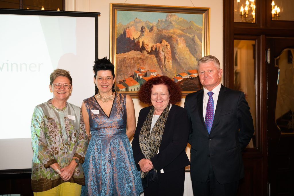 Cathy Hunt, Deb Suckling, Prof Margaret Sheil AO and Ian Gillespie